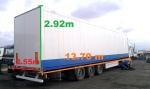 Фургон 13.70 м x 2.92 м x 2.55 м