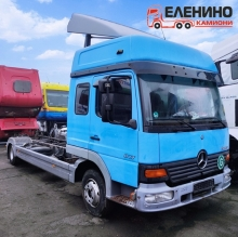 Mercedes ATEGO 817L, 2000г. фургон, двойна кабина