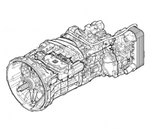 ZF 16S2331TD NEW ECOSPLIT 4, интардер на DAF XF105, 2011г.