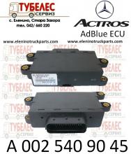 Адблу SCR ECU ел. блок от Мерцедес Актрос 2009 г. A0025409045