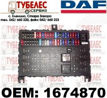 Табло предпазители / бушони на DAF 1674870 518685201