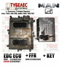 Компютър EDC + FFR + Ключ MAN D2676 LF13 0281020067 81258057069