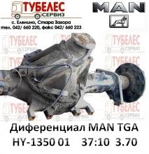 Диференциал / редуктор HY-1350 01 37x10  3.70 за MAN TGA