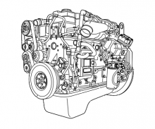 Двигател CE 162 C за DAF LF45, 220 к.с., 5.9L , 2001 г.