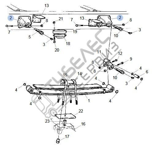 1377779 SCANIA REAR SPRING BRACKET Konzola zaden resor Ø 56