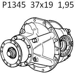 P1345 differential Renault AE Magnum 37x19 - Spare parts for trucks - Tubeless Service Ltd.