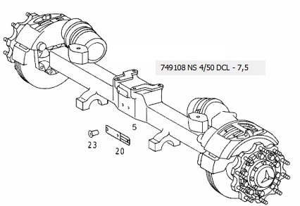 Trailing axle for Mercedes Benz Actros 2542L, 1998 - Tubeles Serviz truck spare parts selo Elenino