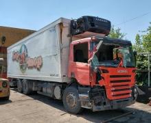 SCANIA P270, 2007г. 6x2, Евро4, хладилен фургон НА ЧАСТИ